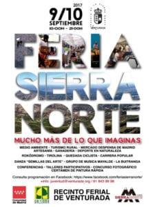Feria Sierra Norte 2017 | 09 y 10/09/2017 | Venturada - Comunidad de Madrid | Cartel