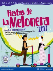 Fiestas de La Melonera 2017 | Arganzuela | Madrid | 07-17/09/2017 | Cartel conciertos