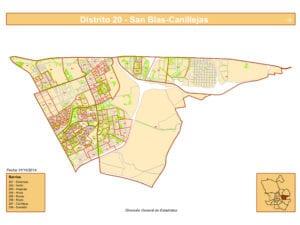 Plano 8 barrios de San Blas-Canillejas   Madrid   Fuent DGE Ayuntamiento de Madrid