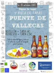 3ª Ruta de Tapas de Vallecas 2017 | ¡Sigue la Tapa! | 06-15/10/2017 | Puente de Vallecas | Madrid | Cartel