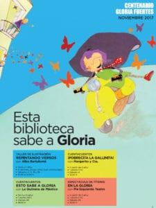 Biblioteca Pública de Zamora sabe a Gloria en noviembre | Centenario Gloria Fuertes | 1917-2017 | Zamora | Castilla y León | Cartel