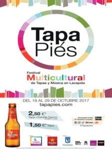 Tapapiés 2017   7ª Ruta Multicultural Tapas y Música en Lavapiés   19 al 29/10/2017   Lavapiés   Madrid   Cartel