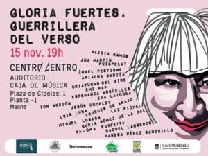 Gloria Fuertes, Guerrillera del Verso   Auditorio Caja de Música   CentroCentro Cibeles   Madrid   15/11/2017   Cartel