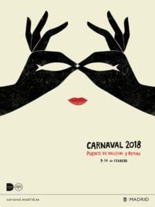 Carnaval Madrid 2018   Puente de Vallecas y Retiro   09 al 14/02/2018   Cartel