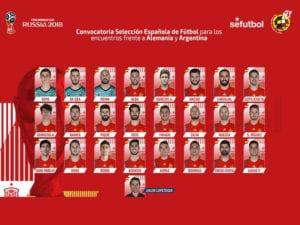 Sin liga en 1ª por el encuentro Alemania - España | Convocatoria Selección Española de Fútbol