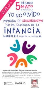 2ª Jornada Solidaria 'Del olvido a la acción' | 05/05/2018 | Arganzuela | Madrid | #yonolvido | Cartel