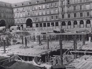 Aparcamiento de la Plaza Mayor de Madrid | Construcción en 1968
