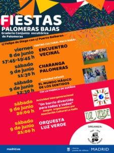 Fiestas de Palomeras Bajas 2018   08 y 09/06/2018   Puente de Vallecas   Madrid   Cartel