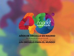 Madrid Orgullo 2018 | Fiesta del Orgullo LGBT | 28/06-08/07/2018 | Barrio de Chueca | Madrid | Cartel