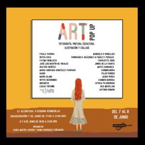 Pop Up Art Madrid 2018 | 3ª edición muestra efímera de arte contemporáneo | 07-09/06/2018 | Barrio de Salamanca | Madrid | Cartel
