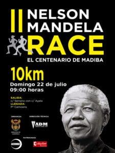 2ª Nelson Mandela Race | Centenario de 'Madiba' | 10 km | 22/07/2018 | Madrid | Cartel