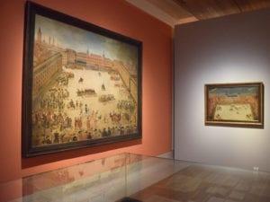 Exposición La Plaza Mayor. Retrato y máscara de Madrid | 400 años | Museo de Historia de Madrid | Mayo - Noviembre - 2018 | 2 vistas de la Plaza Mayor de Madrid