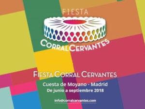 Fiesta Corral Cervantes, Madrid 2018   Cuesta de Moyano   Retiro   Junio - Agosto 2018   Cartel