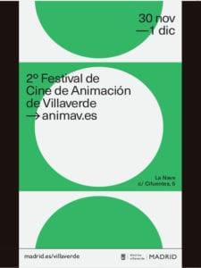 ANIMAV 2018 | 2º Festival de Cine de Animación de Villaverde | 30/11-01/12/2018 | La Nave | Villaverde | Madrid | Cartel