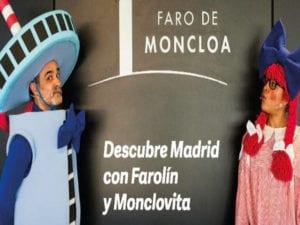 Descubre Madrid con Farolín y Monclovita | Faro de Moncloa | Del 22/12/2018 al 06/01/2019 | Turismo | Ayuntamiento de Madrid