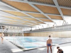 Polideportivo La Cebada: paso final | Plaza de la Cebada | Barrio de La Latina | Centro | Madrid | Piscina pública