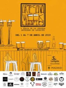 5ª Artesana Week Lavapiés | 01-07/04/2019 | Feria de la Cerveza Artesana de Lavapiés | Embajadores (Madrid) | Cartel