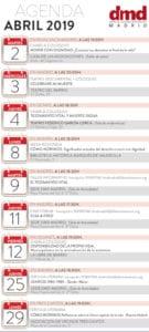 Agenda DMD Madrid Abril 2019 | Derecho a Morir Dignamente | Infografía
