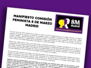 Manifiesto Feminista 8M 2019 | Comision Feminista 8 de Marzo Madrid | #HacialaHuelgaFeminista2019 | 08/03/2019
