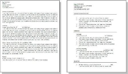Make A Resume Easy To Read Pongo Blog