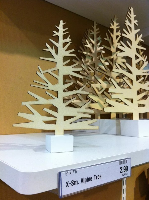 Laser Cut Christmas Trees and Sunglasses