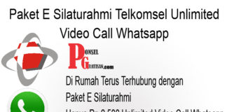 Paket E Silaturahmi Telkomsel Unlimited Video Call Whatsapp
