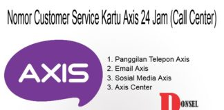 Nomor Customer Service Kartu Axis 24 Jam (Call Center)