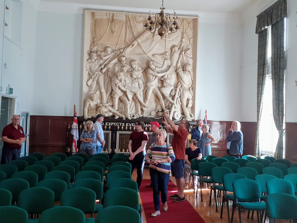Guided tour of the Nelson Room in Pontefract Town Hall.