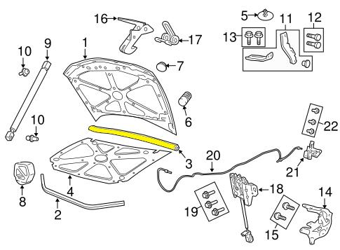 08-09 G8 Hood Rear Weatherstrip: Pontiac G-Series Parts
