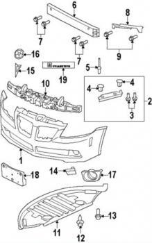 08-09 G8 GXP Front Bumper Cover: Pontiac G-Series Parts