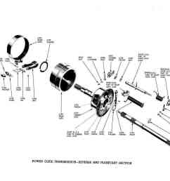 pontiac 1956 master parts catalog176 power glide transmission reverse and planetary section [ 1111 x 856 Pixel ]