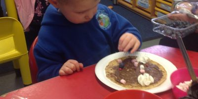 Pancake Day in Nursery.