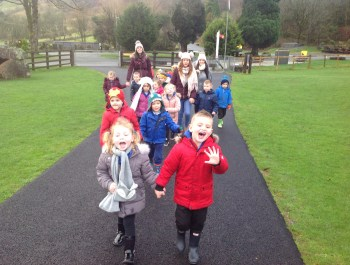 Reception visit to Dan Y Ogof