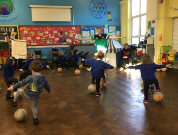 Football Fun in Nursery.
