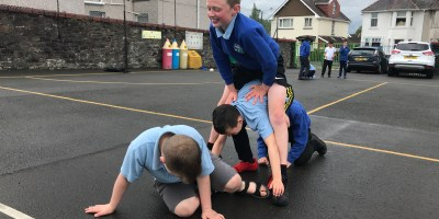 Athletics fun in Year 5!