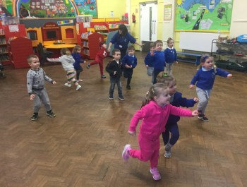 Afternoon Nursery's First P.E Session