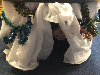 Making a Christmas Den