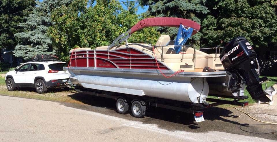 pontoon trailer plastic boat bunks, guides and slides