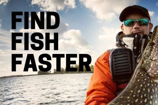 fisher using portable fish finder by lucky lowrance and hummingbird brands