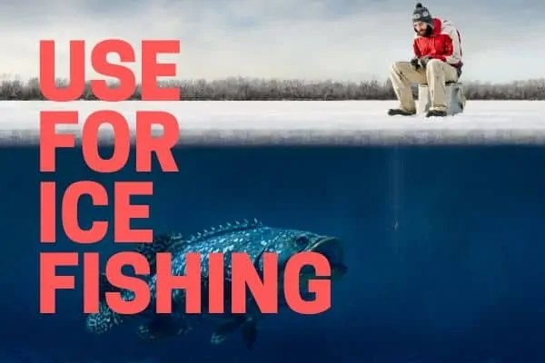 ice fishing with a portable fish finder