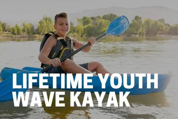 lifetime youth wave kayak used by kid on lake