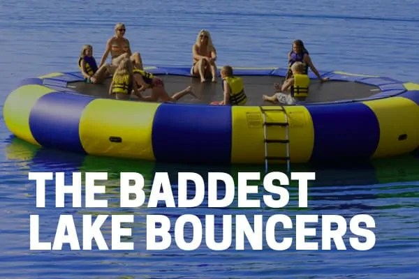 top rated lake bouncer and inflatable water trampoline on the lake