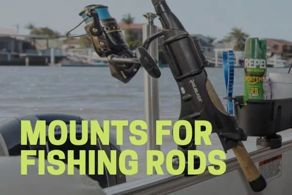 fishing rod mount pontoon boat accessory