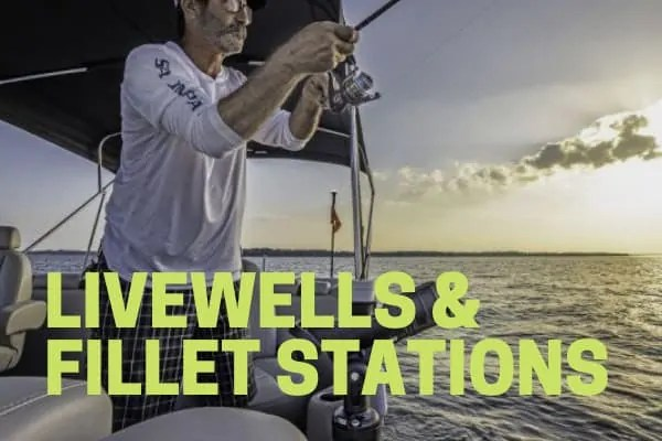 livewell and fillet station pontoon boat accessory
