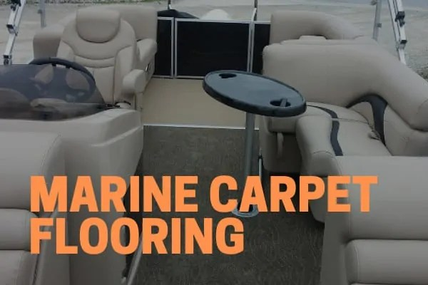 marine carpet replacement flooring on a pontoon boat