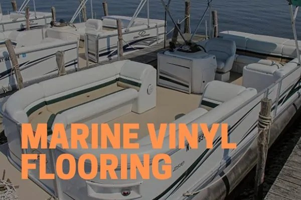 marine vinyl replacement flooring on a pontoon boat