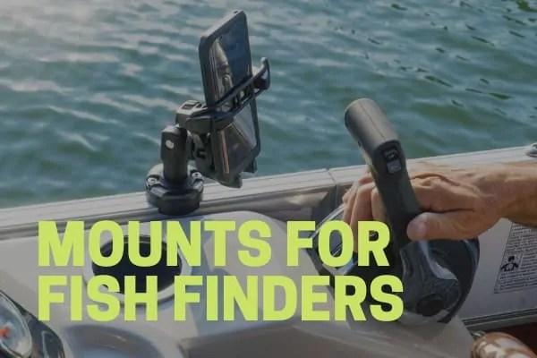 fish finder mounth pontoon boat accessory