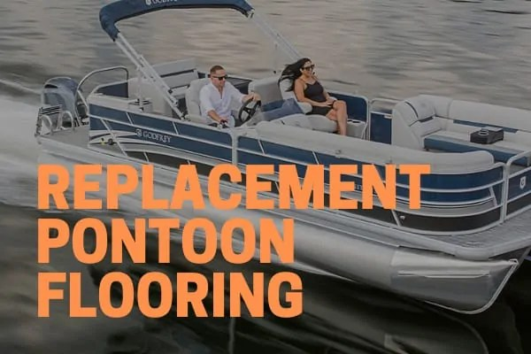 replacement pontoon flooring options include teak, vinyl, and carpet