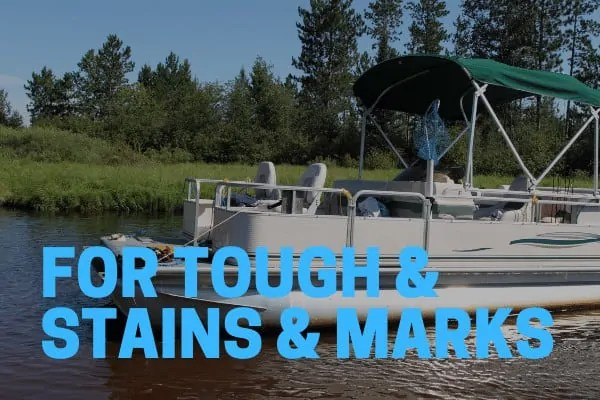 aluminum pontoon cleaners for tough stains and marks