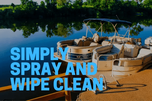 aluminum pontoon cleaners spray on and wipe off quickly